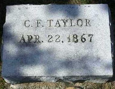 TAYLOR, CHARLES FREDERICK - Madison County, Iowa | CHARLES FREDERICK TAYLOR