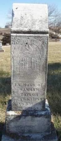 TAYLOR, ISRAEL S. - Madison County, Iowa | ISRAEL S. TAYLOR