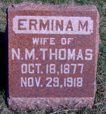 THOMAS, ERMINA M. - Madison County, Iowa   ERMINA M. THOMAS