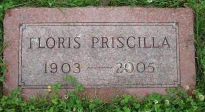 THOMAS, FLORIS PRISCILLA - Madison County, Iowa | FLORIS PRISCILLA THOMAS