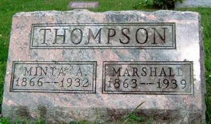 THOMPSON, MINTA ALICE - Madison County, Iowa | MINTA ALICE THOMPSON