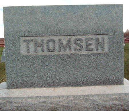 THOMSEN, FAMILY STONE - Madison County, Iowa | FAMILY STONE THOMSEN