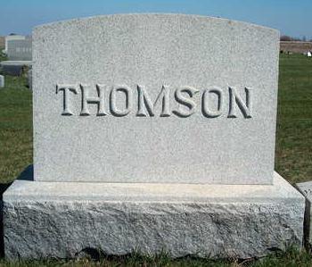 THOMSON, FAMILY STONE - Madison County, Iowa | FAMILY STONE THOMSON