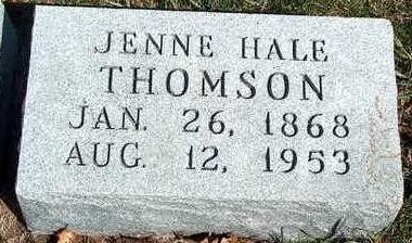 HALE THOMSON, JENNIE M. - Madison County, Iowa | JENNIE M. HALE THOMSON