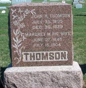 THOMSON, MARGARET M. - Madison County, Iowa   MARGARET M. THOMSON