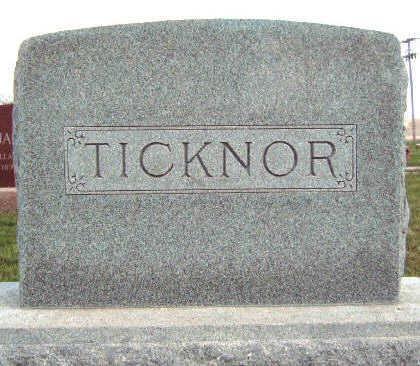TICKNOR, FAMILY STONE - Madison County, Iowa | FAMILY STONE TICKNOR