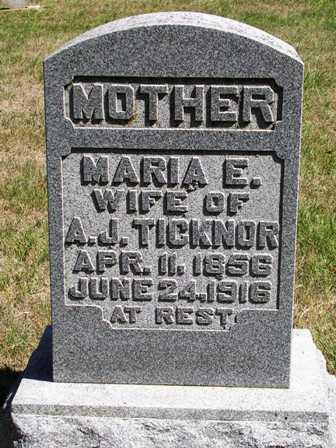 TICKNOR, MARIA ELIZABETH - Madison County, Iowa | MARIA ELIZABETH TICKNOR