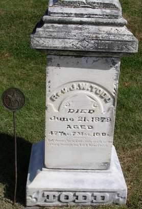TODD, JOHN WESLEY, REV. - Madison County, Iowa | JOHN WESLEY, REV. TODD