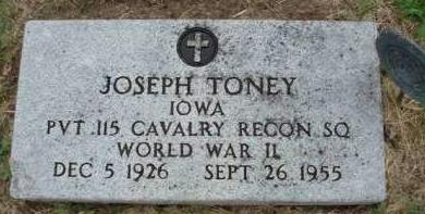 TONEY, JOSEPH - Madison County, Iowa | JOSEPH TONEY