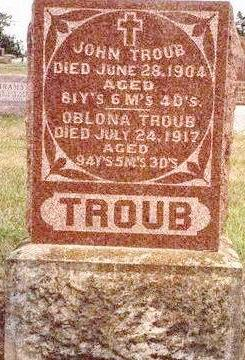 TROUB, OBLONA - Madison County, Iowa | OBLONA TROUB