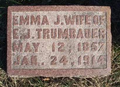 TRUMBAUER, EMMA JOSEPHINE - Madison County, Iowa | EMMA JOSEPHINE TRUMBAUER