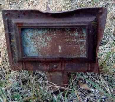 UNKNOWN, METAL MARKER - Madison County, Iowa | METAL MARKER UNKNOWN