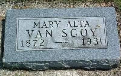 VAN SCOY, MARY ALTA - Madison County, Iowa | MARY ALTA VAN SCOY
