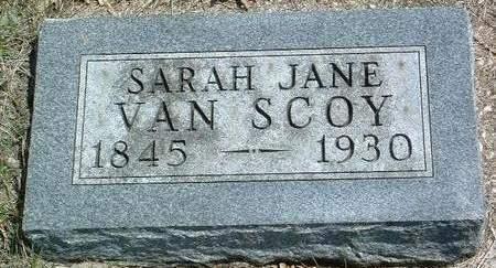 VAN SCOY, SARAH JANE - Madison County, Iowa   SARAH JANE VAN SCOY