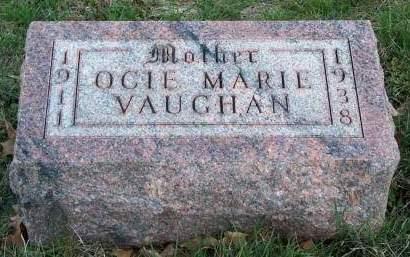 VAUGHAN, OCIE MARIE - Madison County, Iowa   OCIE MARIE VAUGHAN