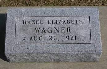 WAGNER, HAZEL ELIZABETH - Madison County, Iowa   HAZEL ELIZABETH WAGNER