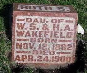 WAKEFIELD, RUTH S. - Madison County, Iowa   RUTH S. WAKEFIELD