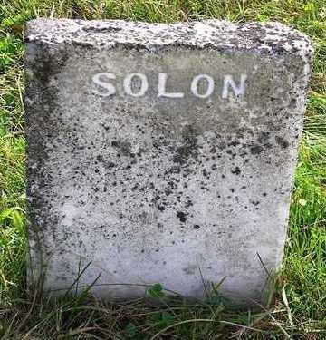 WALKER, SOLON - Madison County, Iowa   SOLON WALKER