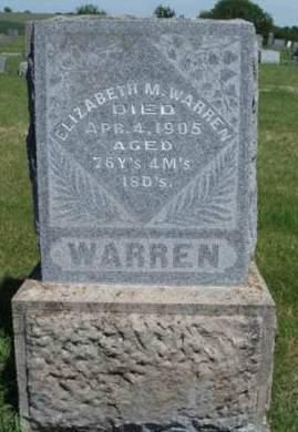 WARREN, ELIZABETH - Madison County, Iowa   ELIZABETH WARREN