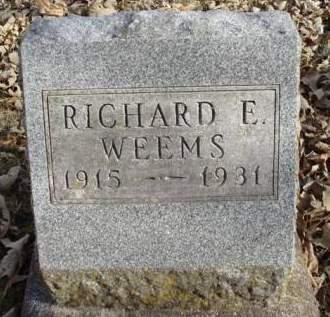 WEEMS, RICHARD E. - Madison County, Iowa   RICHARD E. WEEMS