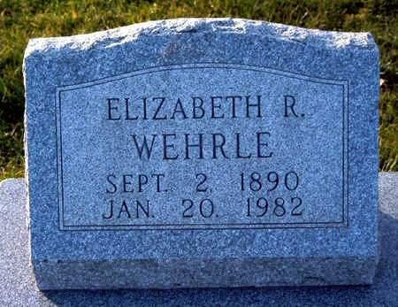 WEHRLE, ELIZABETH R - Madison County, Iowa   ELIZABETH R WEHRLE