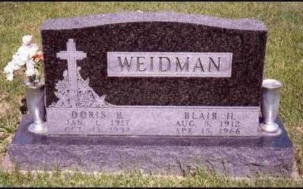 WEIDMAN, DORIS BERNICE - Madison County, Iowa | DORIS BERNICE WEIDMAN