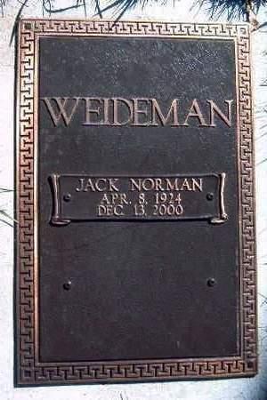 WEIDMAN, JACK NORMAN - Madison County, Iowa | JACK NORMAN WEIDMAN