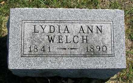 WELCH, LYDIA ANN - Madison County, Iowa | LYDIA ANN WELCH
