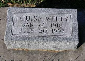 WELTY, ALMA LOUISE - Madison County, Iowa   ALMA LOUISE WELTY