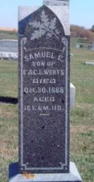 WERTS, SAMUEL EDWARD - Madison County, Iowa   SAMUEL EDWARD WERTS