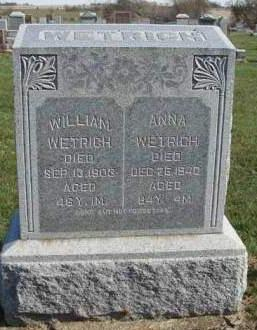 GABRIEL WETRICH, SUSANNA (ANNA) - Madison County, Iowa | SUSANNA (ANNA) GABRIEL WETRICH