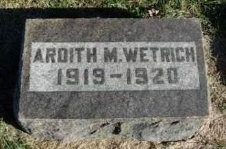 WETRICH, ARDITH MAMIE - Madison County, Iowa | ARDITH MAMIE WETRICH