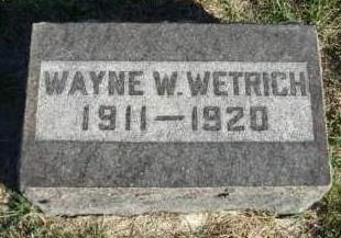 WETRICH, WAYNE WILLIAM - Madison County, Iowa | WAYNE WILLIAM WETRICH
