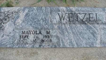 WETZEL, MAYOLA MAUD - Madison County, Iowa   MAYOLA MAUD WETZEL