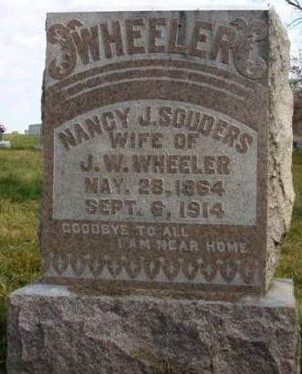 WHEELER, NANCY JANE - Madison County, Iowa   NANCY JANE WHEELER