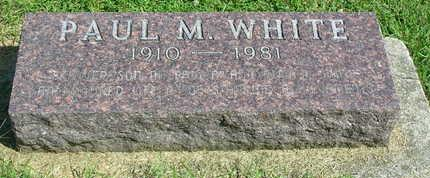 WHITE, PAUL M. - Madison County, Iowa | PAUL M. WHITE