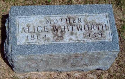WHITWORTH, LOUA ALICE - Madison County, Iowa | LOUA ALICE WHITWORTH