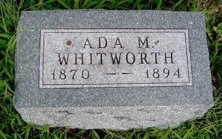 WHITWORTH, ADA M. - Madison County, Iowa | ADA M. WHITWORTH