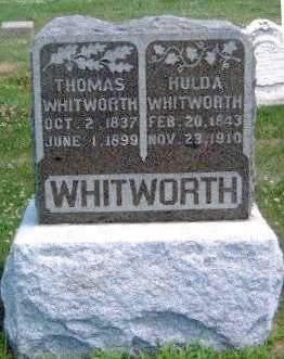 WHITWORTH, HULDA J. - Madison County, Iowa | HULDA J. WHITWORTH