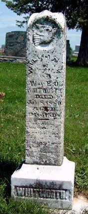 WHITWORTH, WILLIAM A. - Madison County, Iowa   WILLIAM A. WHITWORTH