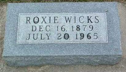 WICKS, ROXIE - Madison County, Iowa | ROXIE WICKS