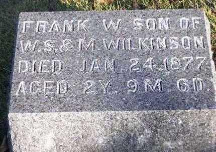 WILKINSON, FRANK WALDO - Madison County, Iowa | FRANK WALDO WILKINSON