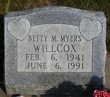 WILLCOX, BETTY MARLENE - Madison County, Iowa | BETTY MARLENE WILLCOX