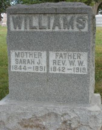 WILLIAMS, WILLIAM W., REV. - Madison County, Iowa | WILLIAM W., REV. WILLIAMS