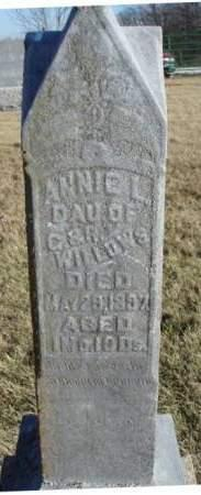 WILLOWS, ANNIE L - Madison County, Iowa | ANNIE L WILLOWS