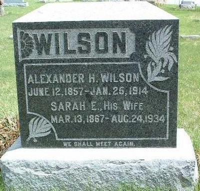 WILSON, ALEXANDER H. - Madison County, Iowa | ALEXANDER H. WILSON