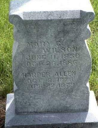 WILSON, MARY G. - Madison County, Iowa   MARY G. WILSON