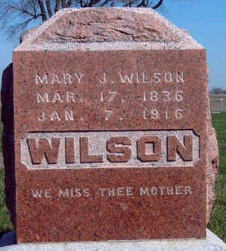 WILSON, MARY JANE - Madison County, Iowa | MARY JANE WILSON