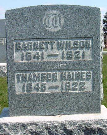 WILSON, THAMSON HANNA - Madison County, Iowa   THAMSON HANNA WILSON