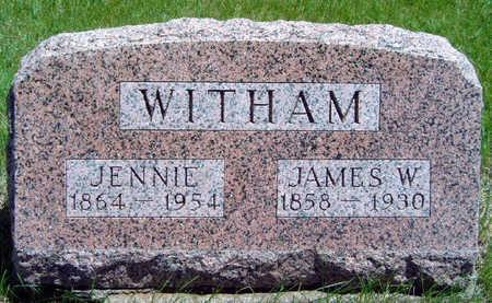 WITHAM, JENNIE SARAH - Madison County, Iowa | JENNIE SARAH WITHAM